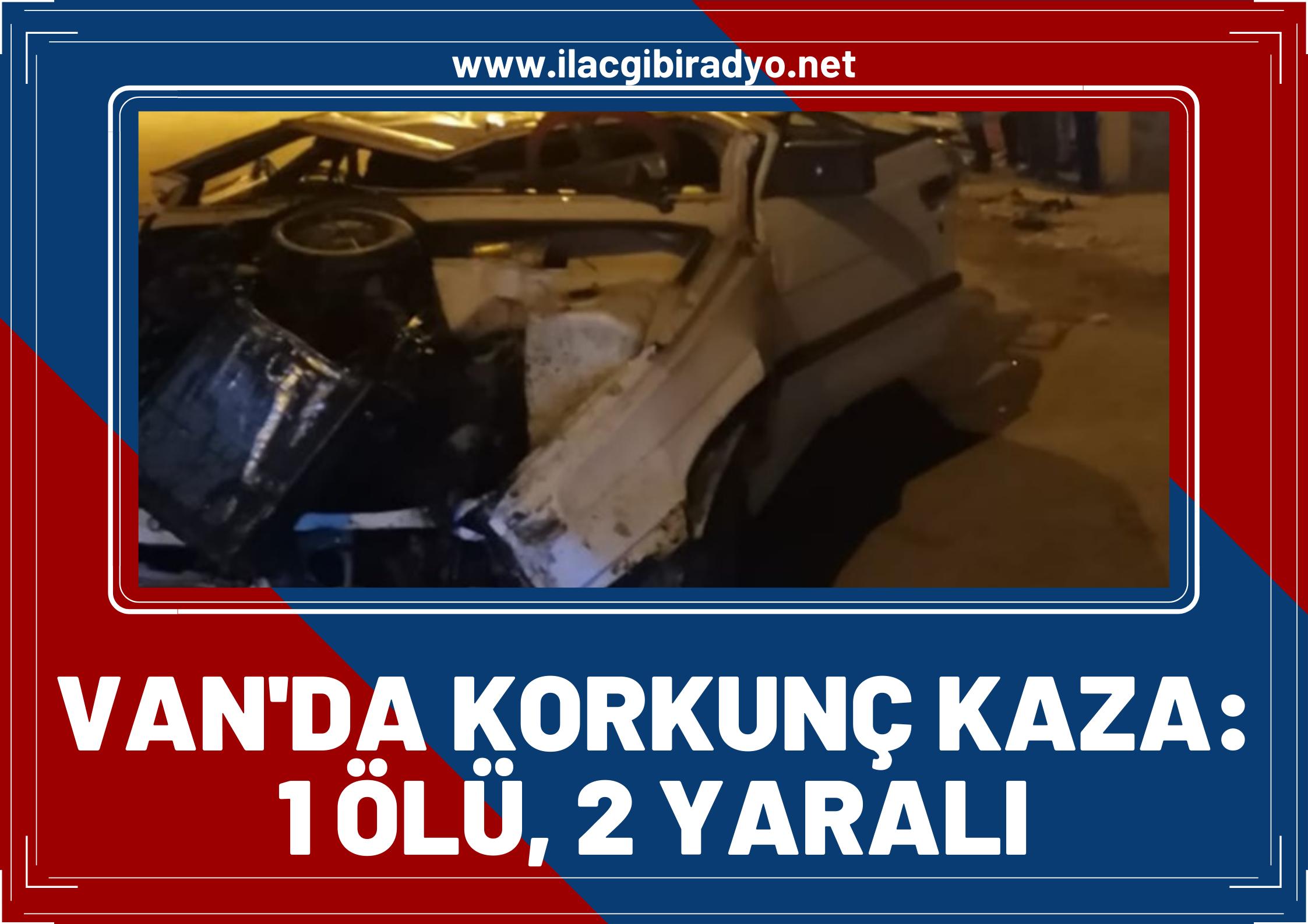 Van'da Korkunç Kaza! Otomobil 8 metre yükseklikteki köprüden uçtu: 1 ölü, 2 yaralı