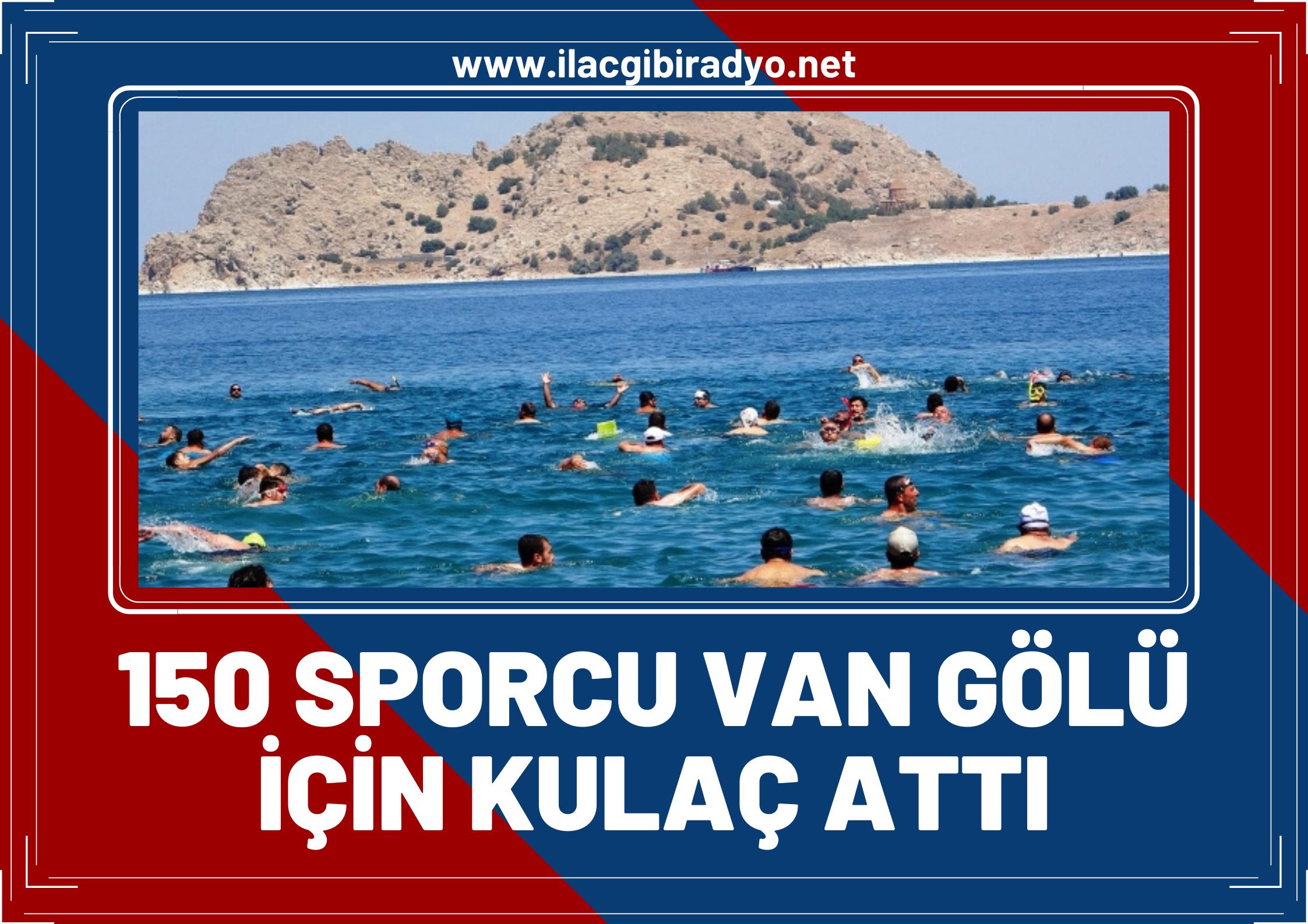 150 sporcu Van Gölü için kulaç attı