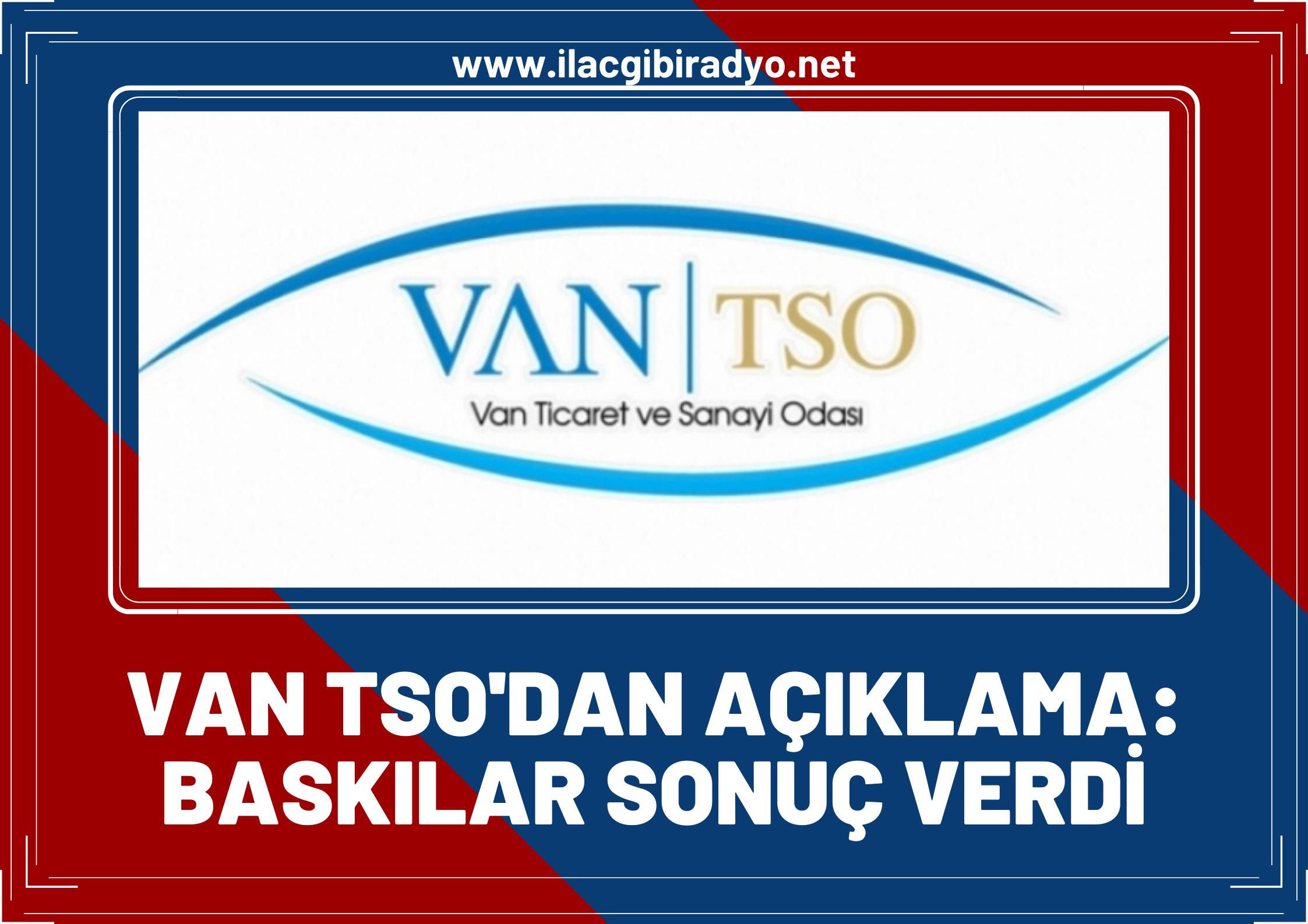 """Van Ticaret ve Sanayi Odası'ndan kapıköy-razi açıklaması! """"Baskılar sonuç verdi"""""""
