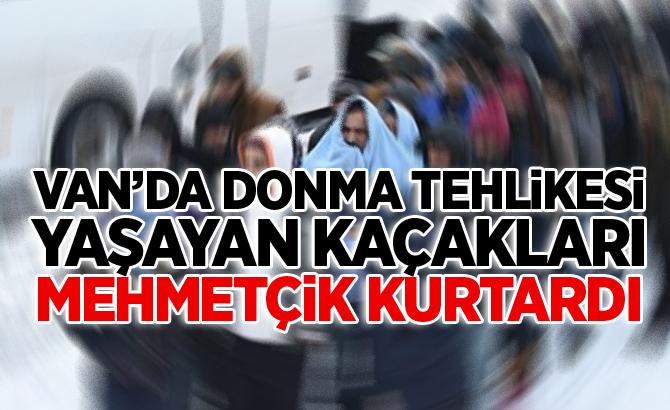 Van'da Donma tehlikesi yaşayan kaçakları Mehmetçik kurtardı