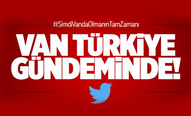Van Twitter'da Türkiye gündemine oturdu! Van TT oldu