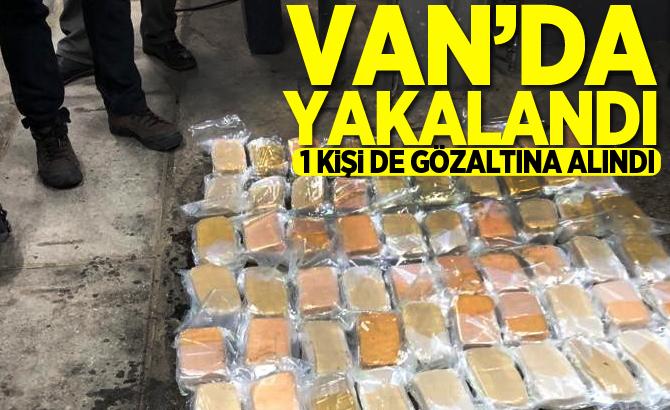 VAN'DA YAKALANDI! 1 KİŞİ DE GÖZALTINA ALINDI