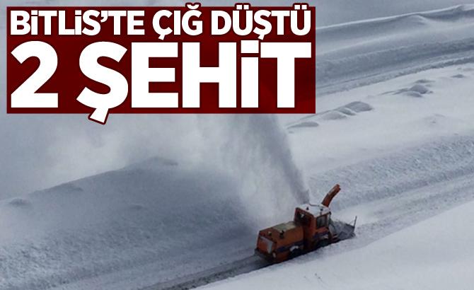 Bitlis'te çığ düştü! 2 asker şehit, 3 asker kayıp, 6 asker yaralı