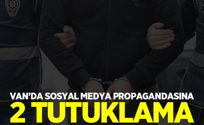 Van'da Sosyal medya propagandasına 2 tutuklama