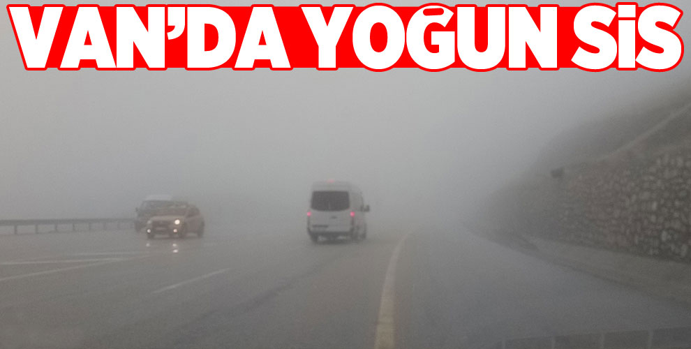Van'da yoğun sis