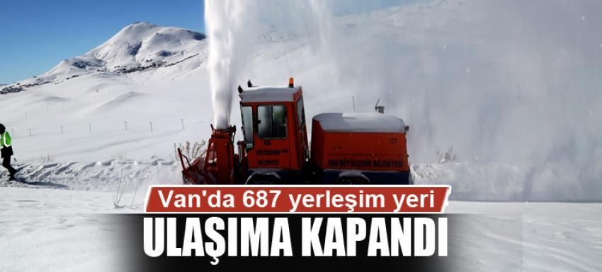 Van'da 687 yerleşim yeri ulaşıma kapandı