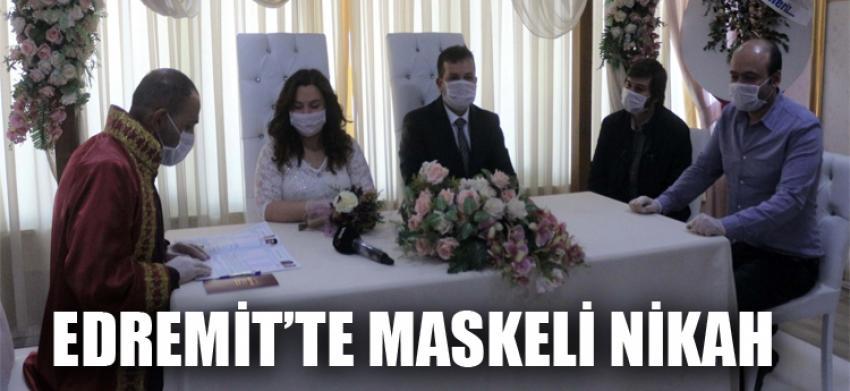 Edremit'te maskeli nikah