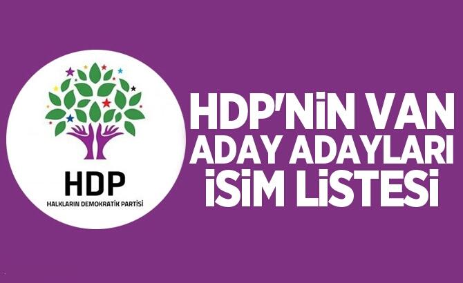 VAN'DA HDP'YE BAŞVURU YAPAN ADAYLAR BELLİ OLDU!