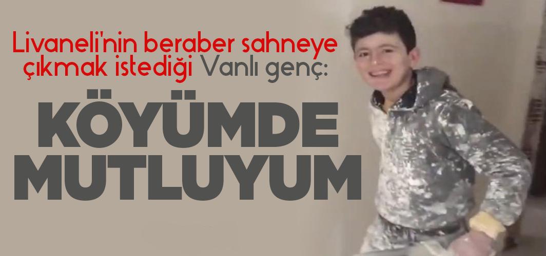 Livaneli'nin beraber sahneye çıkmak istediği genç: Köyümde mutluyum