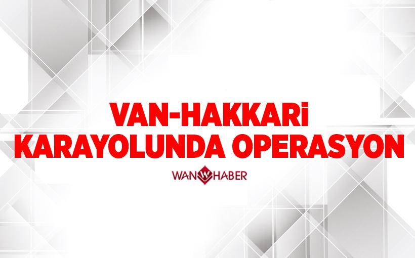 Van-Hakkari karayolunda operasyon