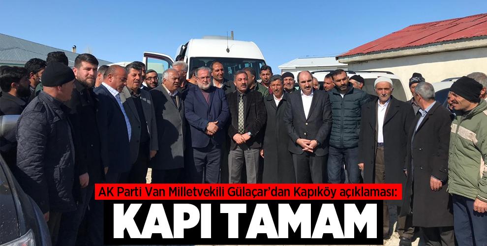 "AK Parti'li Gülaçar: ""Kapı tamam sıra serbest ticaret bölgesinde"""
