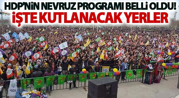 HDP'nin Nevruz Programı Belli Oldu! İşte Kutlanacak Yerler