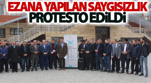 Ezana yapılan saygısızlık protesto edildi
