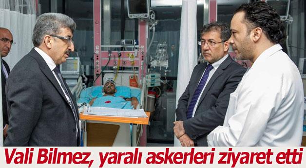 Vali Bilmez, yaralı askerleri ziyaret etti