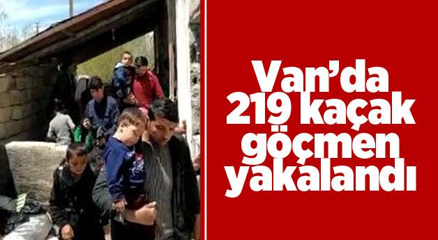 Van'da 219 kaçak göçmen yakalandı