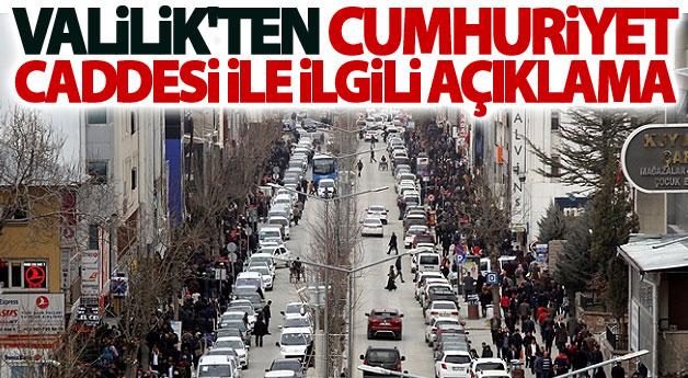 Van Valiliğinden 'Cumhuriyet Caddesi' açıklaması