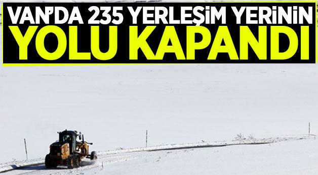 Van'da 235 yerleşim yerinin yolu kapandı