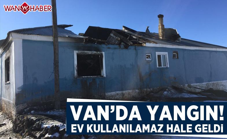 Kıbrıs gazisinin evi çıkan yangında kullanılamaz hale geldi