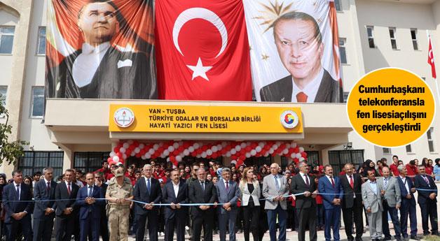 Cumhurbaşkanı Erdoğan telekonferansla fen lisesi açılışını gerçekleştirdi