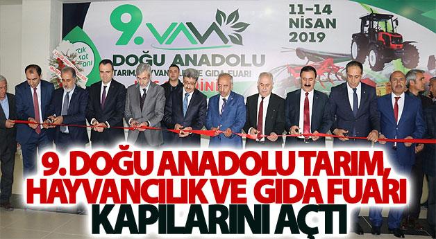 9. Doğu Anadolu Tarım, Hayvancılık ve Gıda Fuarı kapılarını açtı