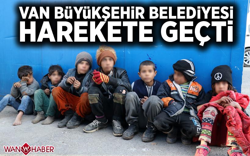 Van Büyükşehir Belediyesi, dilendirilen çocuklar için harekete geçti