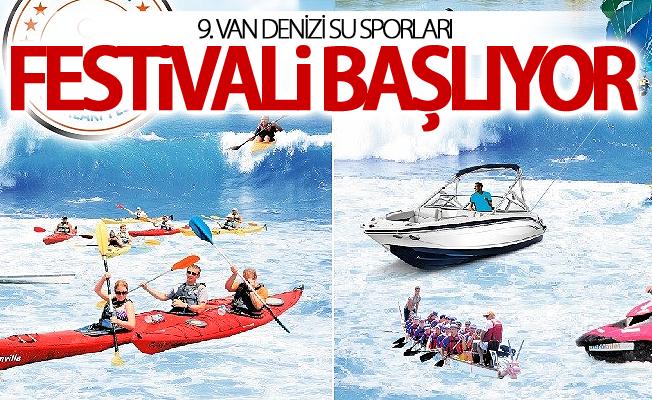 9. Van Denizi Su Sporları Festivali başlıyor