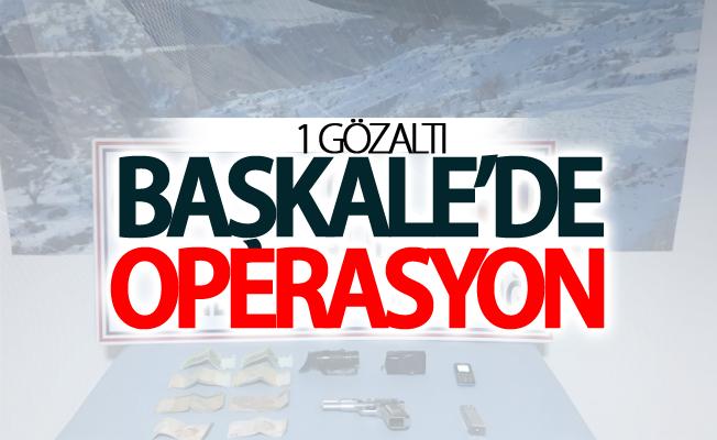 Başkale'de operasyon: 1 gözaltı