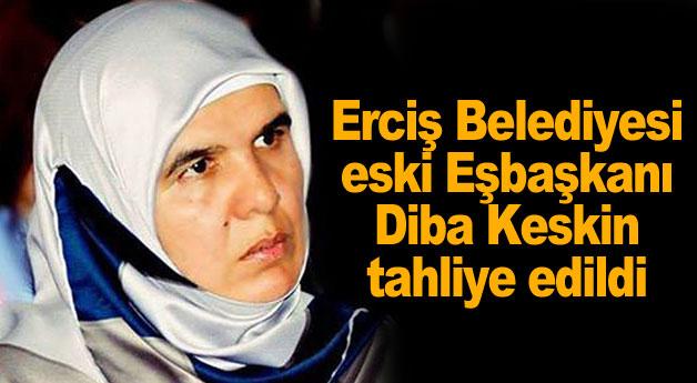 Erciş Belediyesi eski Eşbaşkanı Diba Keskin tahliye edildi