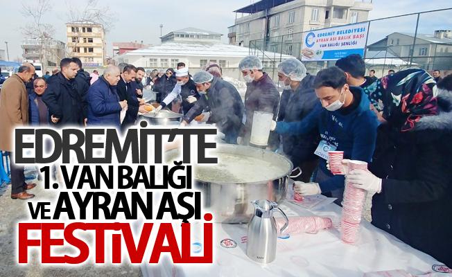 Edremit'te 1. Van Balığı ve Ayran Aşı Festivali