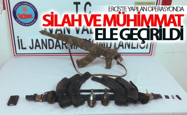 Erciş'te yapılan operasyonda silah ve mühimmat ele geçirildi