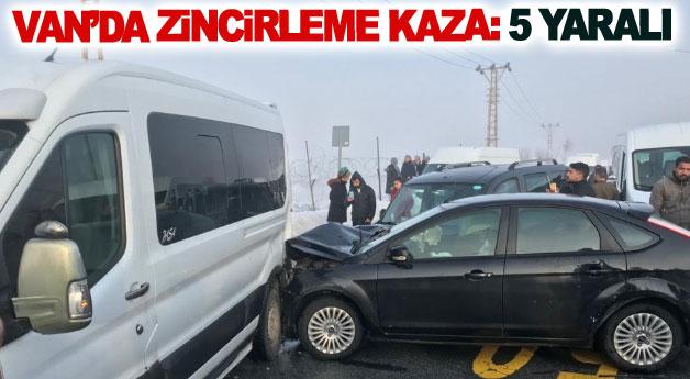 Van'da zincirleme kaza: 5 yaralı