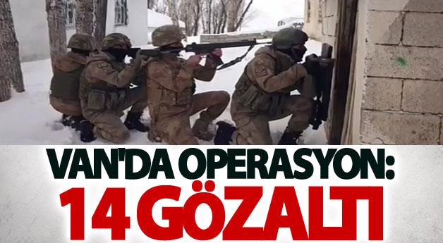 Van'da operasyon: 14 gözaltı