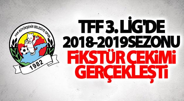 TFF 3. Lig'de 2018-2019 sezonu fikstür çekimi gerçekleşti