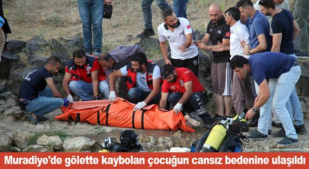 Muradiye'de gölette kaybolan çocuğun cansız bedenine ulaşıldı