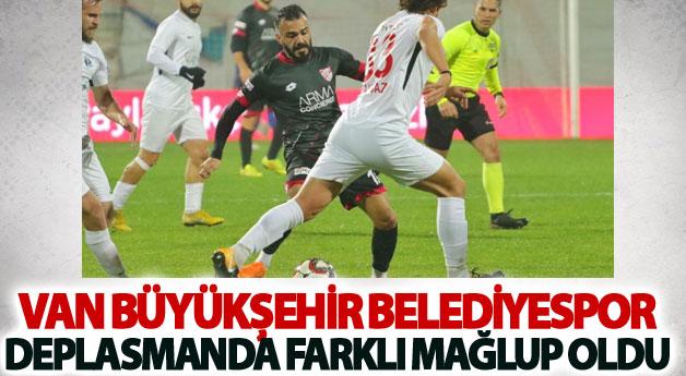 Van Büyükşehir Belediyespor deplasmanda farklı mağlup oldu