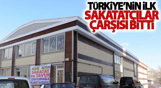 Türkiye'nin ilk sakatatçılar çarşısı bitti