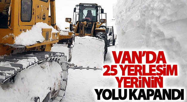 Van'da 25 yerleşim yerinin yolu kapandı