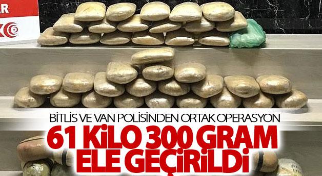 Van ve Bitlis polisinden ortak operasyon
