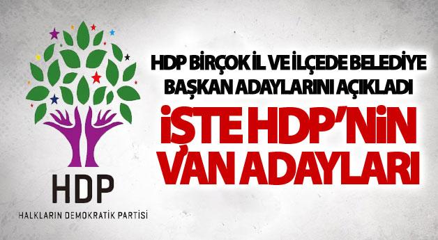 HDP Van Büyükşehir Adayları Belli Oldu