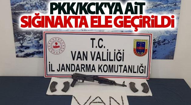 Van'da PKK/KCK'ya ait Kalaşnikof ve yaşam malzemesi ele geçirildi
