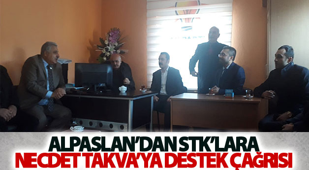 Alpaslan'dan STK'lara Necdet Takva'ya destek çağrısı