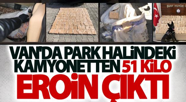 Van'da aracın bagajında 51 kilo eroin ele geçirildi
