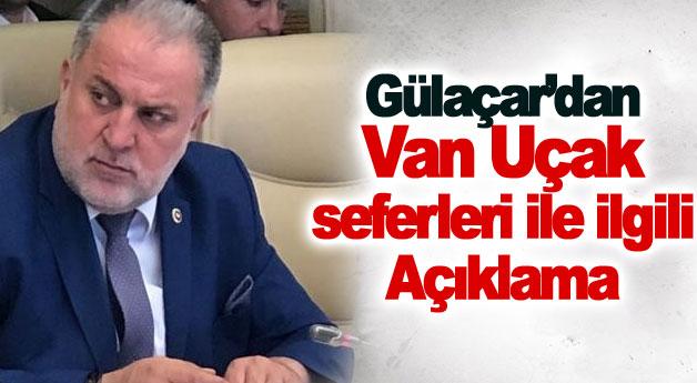 Milletvekili Gülaçar'dan Van uçak seferleri ile ilgili açıklama