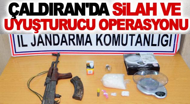 Çaldıran'da Silah ve Uyuşturucu Operasyonu