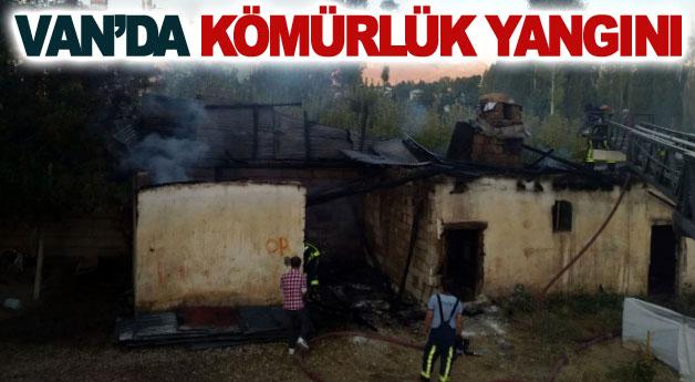 Van'da kömürlük yangını