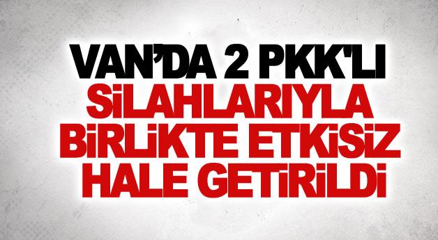 Van'da 2 PKK'lı silahlarıyla birlikte etkisiz hale getirildi