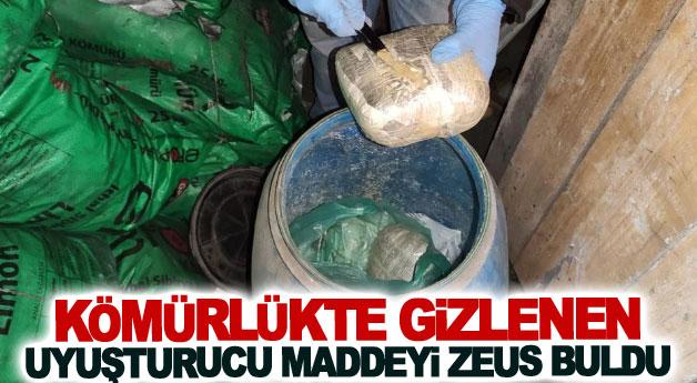 Kömürlükte gizlenen uyuşturucu maddeyi Zeus buldu