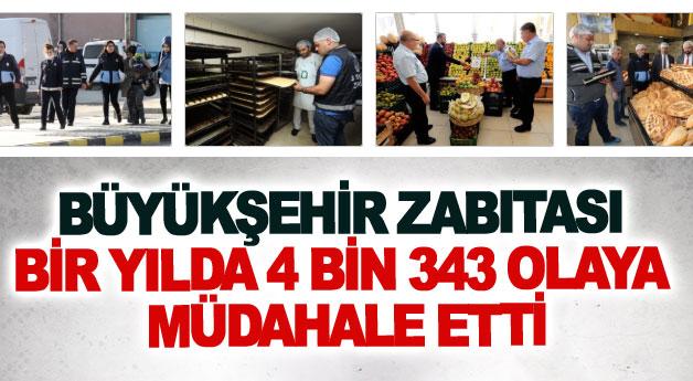 Van Büyükşehir Belediyesi zabıtası bir yılda 4 bin 343 olaya müdahale etti