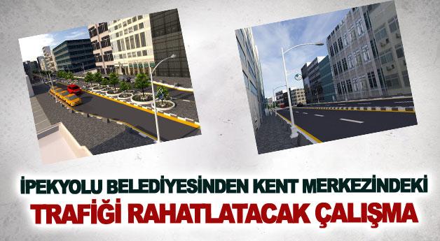 İpekyolu Belediyesinden kent merkezindeki trafiği rahatlatacak çalışma