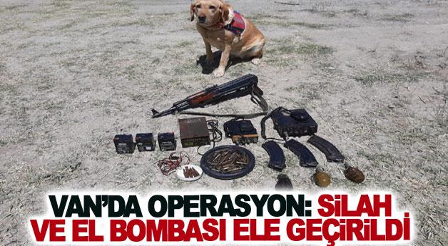 Van'da operasyon: silah ve el bombası ele geçirildi